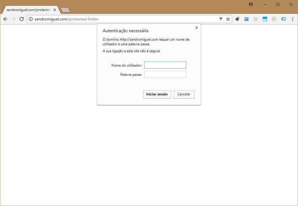 Proteger uma pasta com o .htaccess (Basic HTTP Authentication)